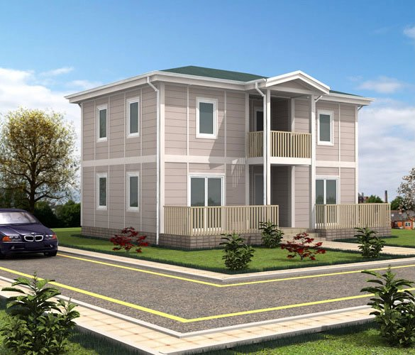 Model 8 Çift Katlı Çelik Ev